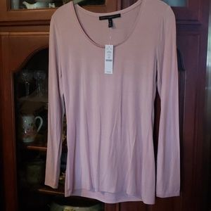 Gorgeous  soft Rose Color Long Sleeve Tee Shirt N